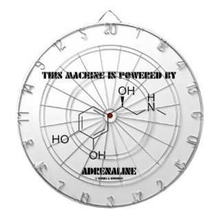 This Machine Is Powered By Adrenaline (Molecule) Dartboard