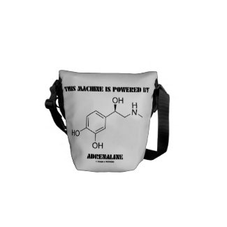 This Machine Is Powered By Adrenaline (Molecule) Messenger Bag