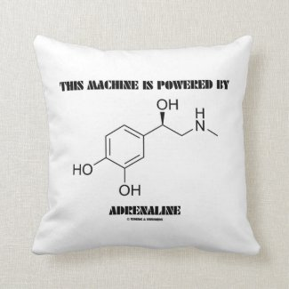 This Machine Is Powered By Adrenaline (Molecule) Throw Pillow