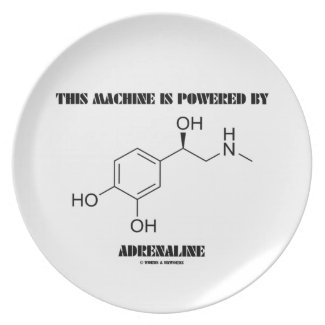 This Machine Is Powered By Adrenaline (Molecule) Dinner Plates