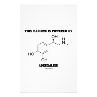 This Machine Is Powered By Adrenaline (Molecule) Stationery