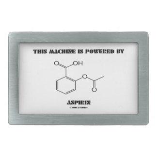 This Machine Is Powered By Aspirin (Molecule) Rectangular Belt Buckle