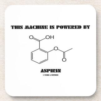 This Machine Is Powered By Aspirin (Molecule) Drink Coaster