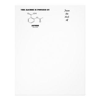 This Machine Is Powered By Aspirin (Molecule) Letterhead