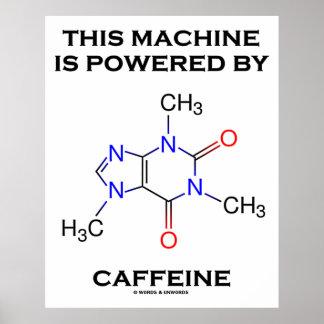 This Machine Is Powered By Caffeine (Molecule) Print