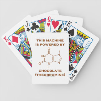 This Machine Is Powered By Chocolate (Theobromine) Bicycle Playing Cards