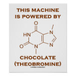 This Machine Is Powered By Chocolate (Theobromine) Poster