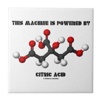 This Machine Is Powered By Citric Acid Small Square Tile