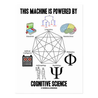 This Machine Is Powered By Cognitive Science Postcards