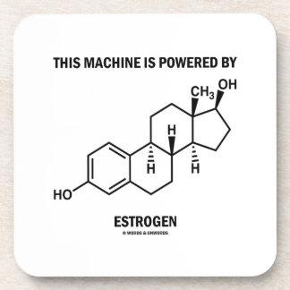 This Machine Is Powered By Estrogen (Molecule) Beverage Coaster