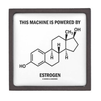 This Machine Is Powered By Estrogen (Molecule) Jewelry Box