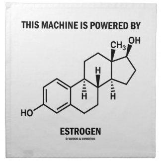 This Machine Is Powered By Estrogen (Molecule) Napkin