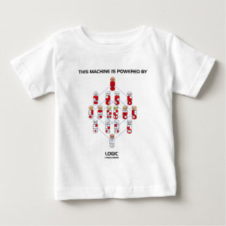 This Machine Is Powered By Logic (Hasse Diagram) Baby T-Shirt