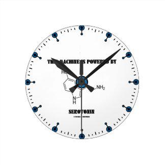 This Machine Is Powered By Serotonin (Chemistry) Round Clock