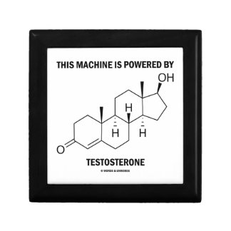 This Machine Is Powered By Testosterone (Molecule) Jewelry Box