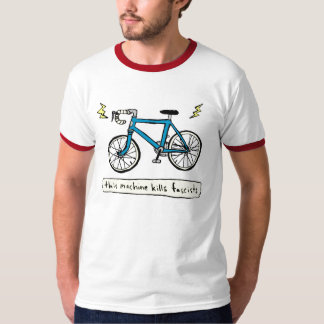 this machine kills fascists (blue) T-Shirt