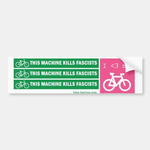 This Machine Kills Fascists Bumper Stickers