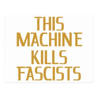 This Machine Kills Fascists Postcard