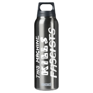 This Machine Kills Fascists Thermos Water Bottle