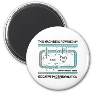 This Machine Powered By Oxidative Phosphorylation 2 Inch Round Magnet