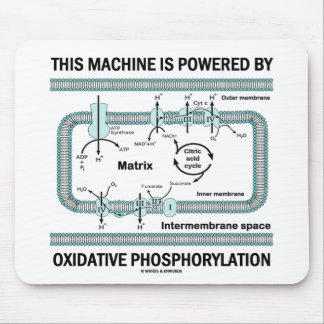 This Machine Powered By Oxidative Phosphorylation Mouse Pad