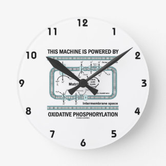 This Machine Powered By Oxidative Phosphorylation Round Clock