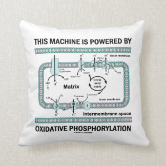 This Machine Powered By Oxidative Phosphorylation Throw Pillow
