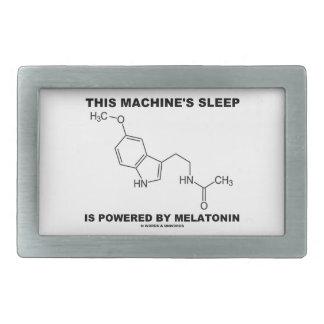 This Machine's Sleep Is Powered By Melatonin Rectangular Belt Buckles