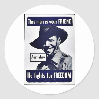 This Man Is Your Friend Round Stickers