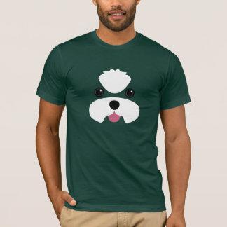 This man loves his maltese - no topknot T-Shirt