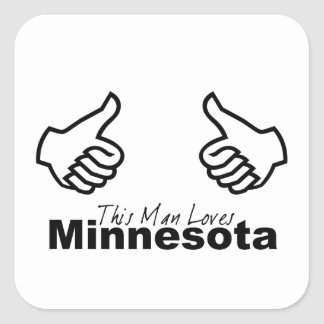 This Man Loves MN Square Sticker