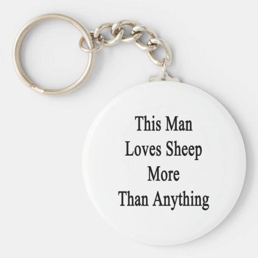 This Man Loves Sheep More Than Anything Key Chain