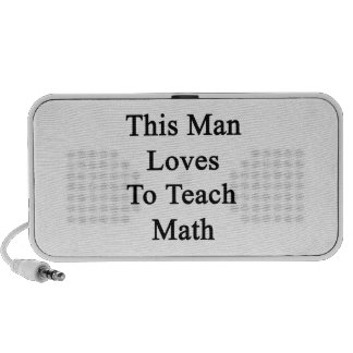 This Man Loves To Teach Math Portable Speakers