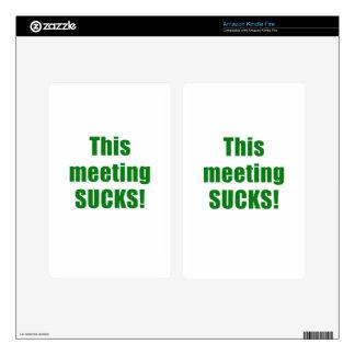 This Meeting Sucks Kindle Fire Skin