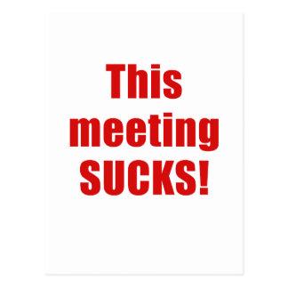 This Meeting Sucks Postcard