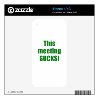 This Meeting Sucks Skins For iPhone 4S