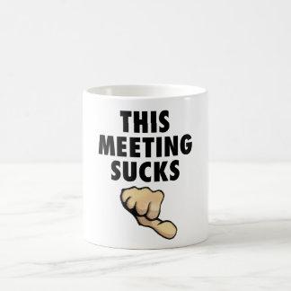 This Meeting Sucks! Thumbs Down! Coffee Mug