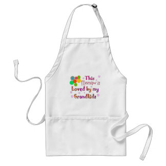This memaw loved by my grandkids adult apron