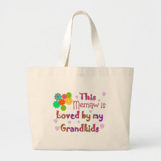 This memaw loved by my grandkids canvas bags