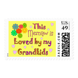 This memaw loved by my grandkids postage stamps