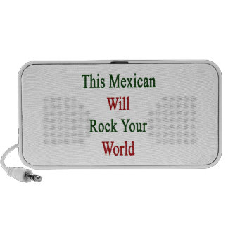This Mexican Will Rock Your World Laptop Speaker