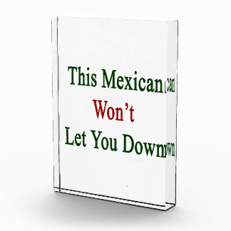 This Mexican Won't Let You Down Acrylic Award