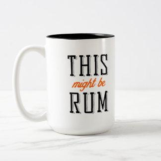 This might be rum Two-Tone coffee mug
