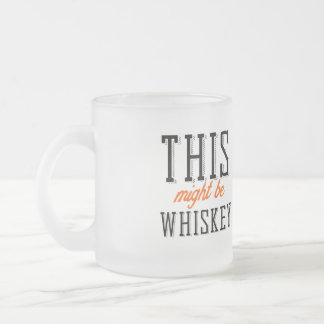 This might be whiskey frosted glass coffee mug