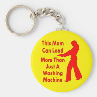 This Mom Can Load More Than Just A Washing Machine Basic Round Button Keychain