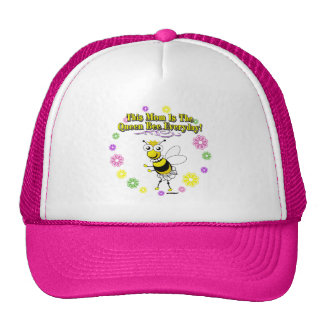 This Mom Is The Queen Bee Everyday Bee Flower Ring Trucker Hat