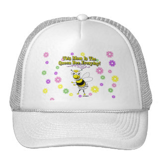 This Mom Is The Queen Bee Everyday Bee & Flowers Trucker Hat