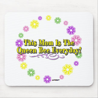 This Mom Is The Queen Bee Everyday Type FlowerRing Mouse Pad