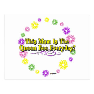 This Mom Is The Queen Bee Everyday Type FlowerRing Postcard