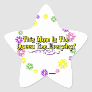 This Mom Is The Queen Bee Everyday Type FlowerRing Star Stickers